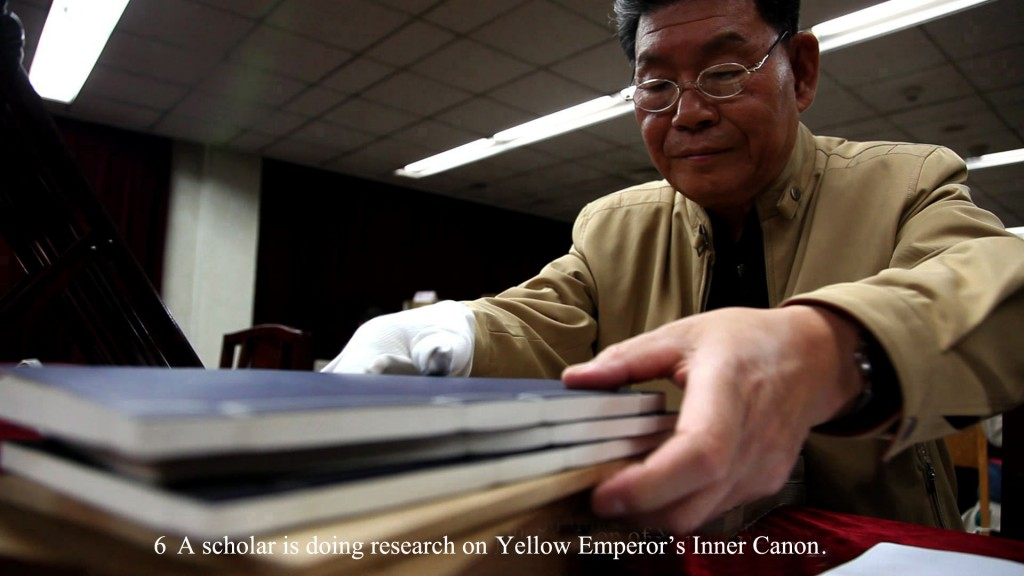 A scholar is doing research on Yellow Emperor's Inner Canon.